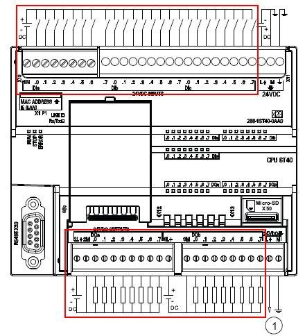 st60接线图 数字量输入接线