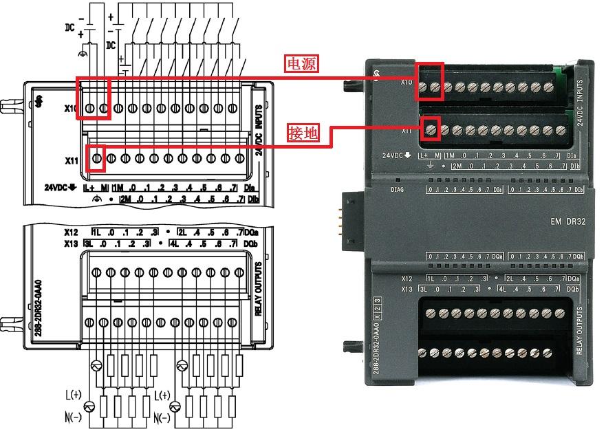 em dr32接线图