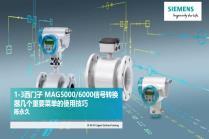 第三讲:西门子 MAG5000/6000信号转换器几个重要菜单的使用技巧
